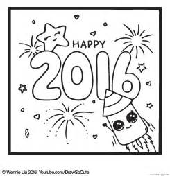 draw coloring book happy new year draw so coloring pages printable