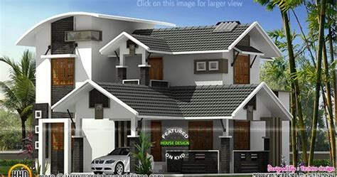 modern mix sloping roof home design 2650 sq feet modern mix 2650 sq ft home kerala home design and floor