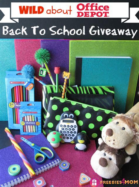 School Giveaways - office depot back to school giveaway