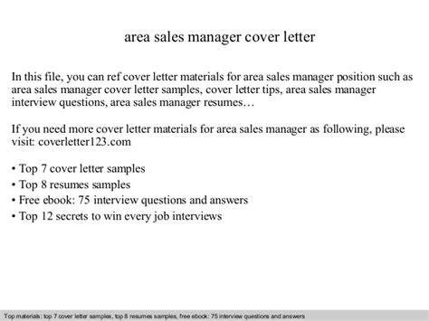 area manager cover letter area sales manager cover letter