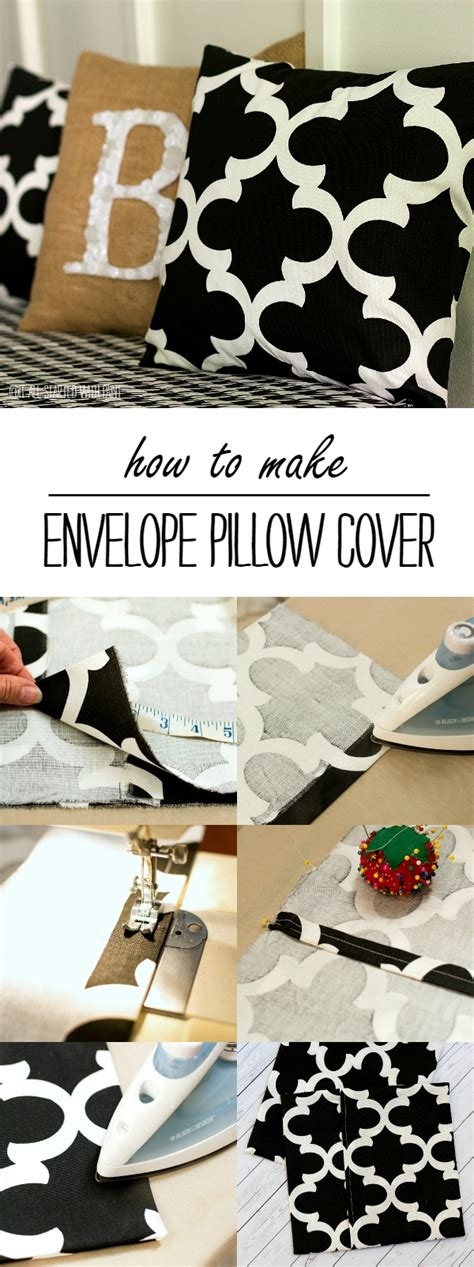 how to make an envelope pillow envelope pillow cover how to