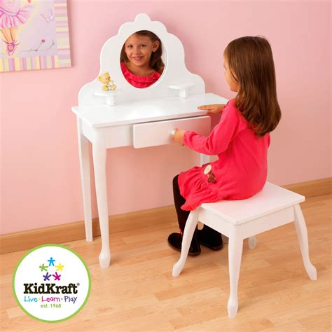 Kidkraft Vanity And Chair by Kidkraft Medium White Vanity Dressing Table Stool
