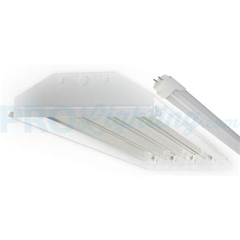 t8 high bay lighting 4 t8 light fixture techbrite b4144ssumxx 18w5k 4 light