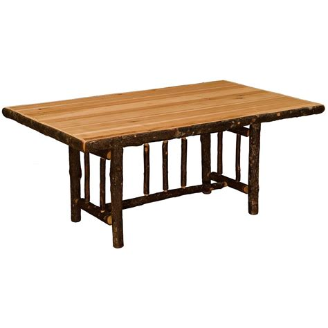 hickory 60 quot dining table with extensions cabin place