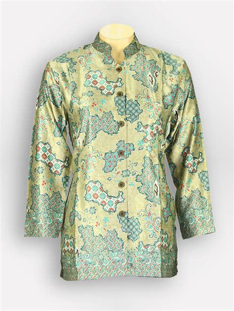 Baju Tidurpiyama Wanita Batik Modern Cln Pjg Lengan Panjang Kuning batik wanita aryasena 62089 batik tanah abang