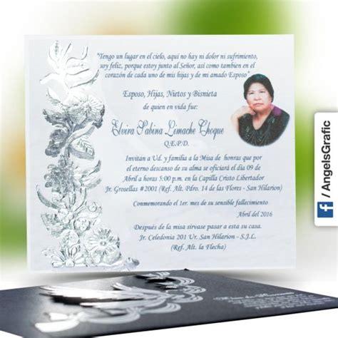 recordatorios de misa de honras invitaci 243 n para misa de honras hr 56851 angels graphic