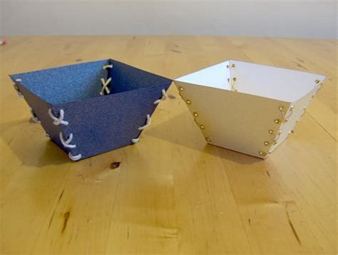 Make Stuff With Paper - things to make and do laced trinket trays