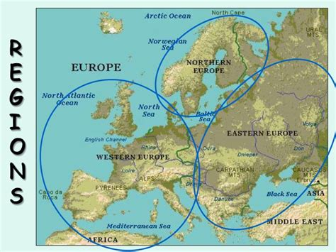 geography of europe map physical geography of europe