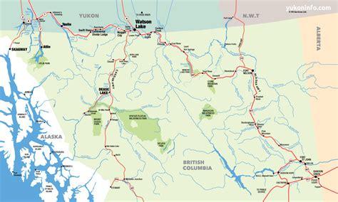 map of canada bc southern yukon northern columbia map