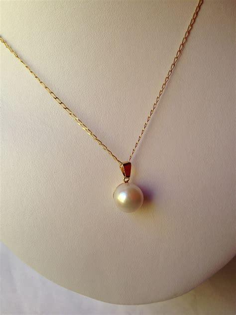 cadenas de oro para mujer con dije de corazon dije de perla de 14mm con cadena dama de chapa de oro de