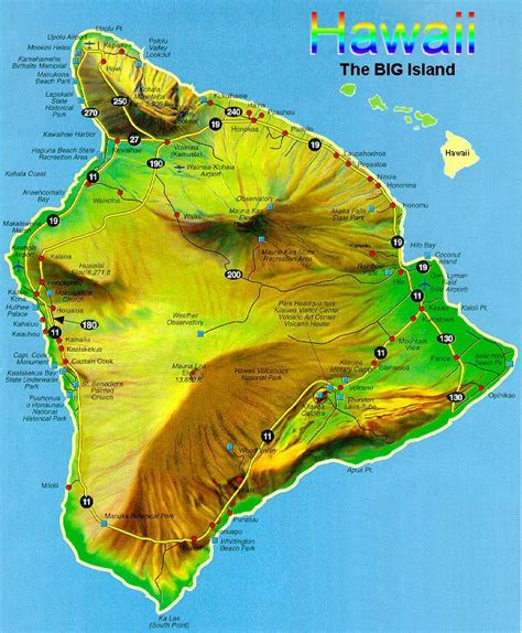 road map of hawaii green sand the big island hawaii