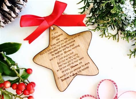 christmas memorial ornament memorial gift memorial