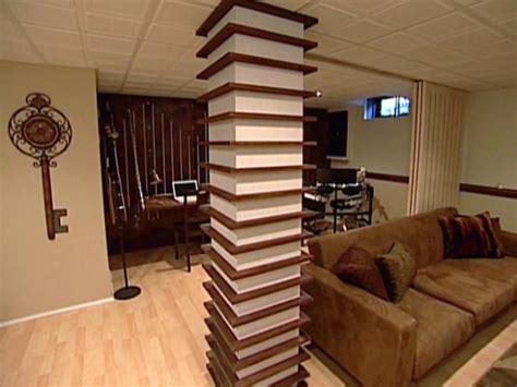 Wood Column Wrapped With Shelves Hgtv Home Decor Interior Design