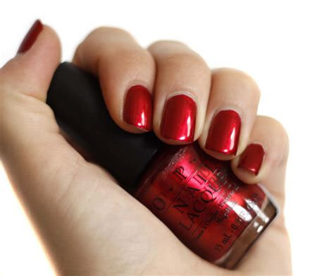 O P I An Affair In Square fancy cherry nail opi composition nail