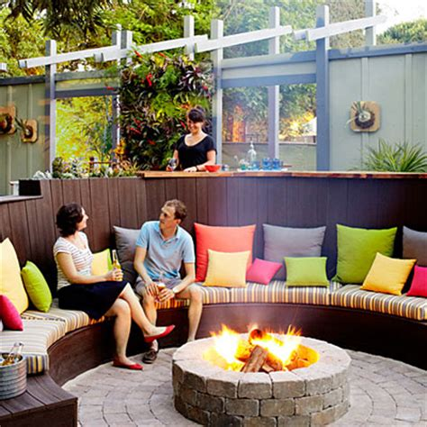 outdoor sitting pit circle sitting area ideas for pits sunset