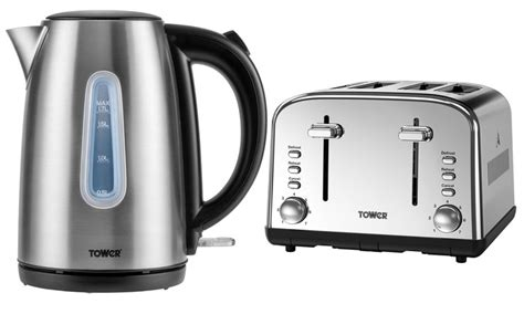 kitchen appliances promo tower kettle and four slice