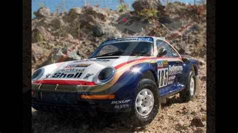 porsche 959 rally tamiya 1 24 porsche 959 rally paris dakar high rider youtube