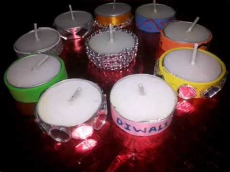 candle decoration at home 10 ideas of decorating tealight candles at home youtube