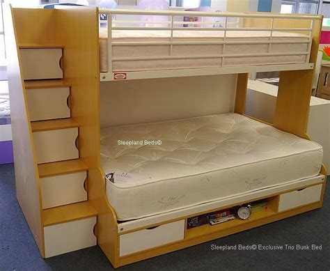 double bunk bed beech and white double bunk bed with storage new 3ft