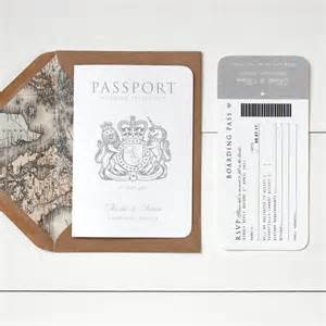 around the world passport wedding invitation by ditsy chic notonthehighstreet
