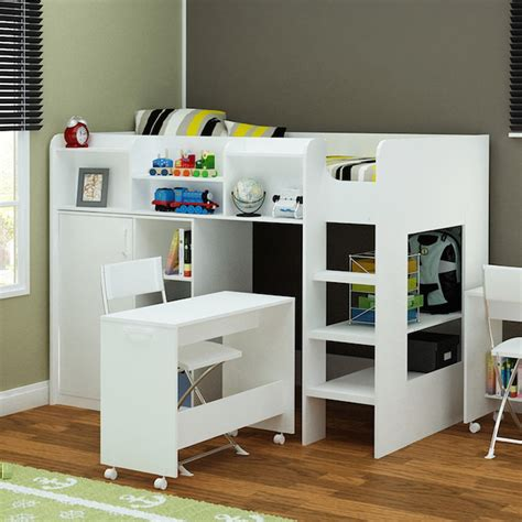 Wizard High Sleeper by Wizard High Sleeper Workstation Bed In White Flair