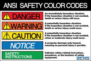 safety colors ansi z535 1 safety color codes label id systems