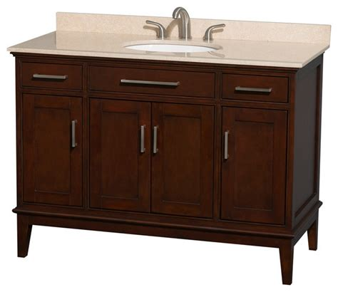 Oval Bathroom Vanity by Hatton 48 Quot Chestnut Single Vanity W Ivory Marble Top