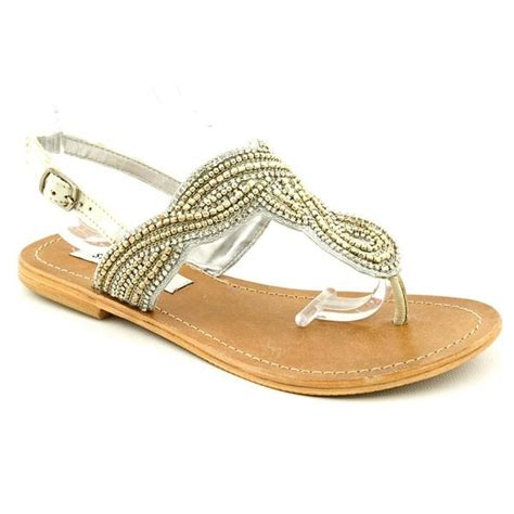 shop steve madden s shiekk basic textile sandals size 5 5 free shipping today