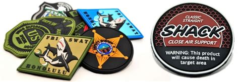 Patch Rubber Pvc Resmob Teks custom pvc patches corporate logo branding tactical pvc maker