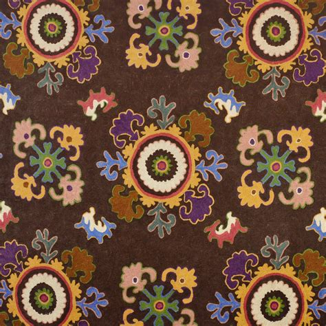 clarence house fabrics clarence house bukhara crewel embroidered fabric brown