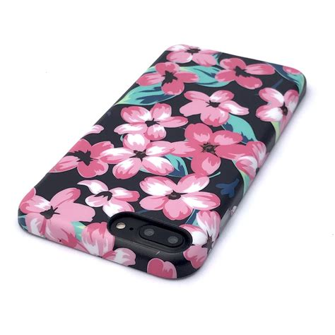 Flower Fur For Iphone 7 Plus Iphone 8 Plus floral for iphone 8 plus 7 plus nightlily