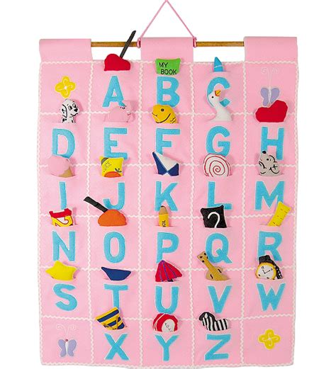 My Alphabet Foodie Wall Hang abc wall hanging pink by pockets of learning