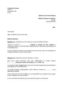Demand Letter Sa Kabit Application Letter Sle Modele De Lettre De Demande D Une Carte Bancaire