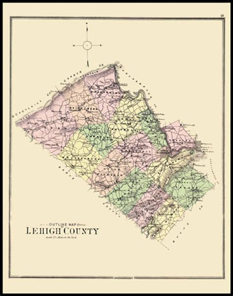 Lehigh County Search Historic Maps And Drawings 15 Lehigh County Pritiskutch Reproductions