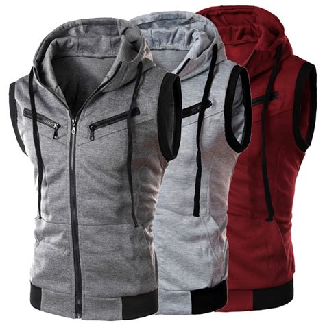 Casual G 1030 casual hoodie jacket coat sleeveless vest sweatshirt