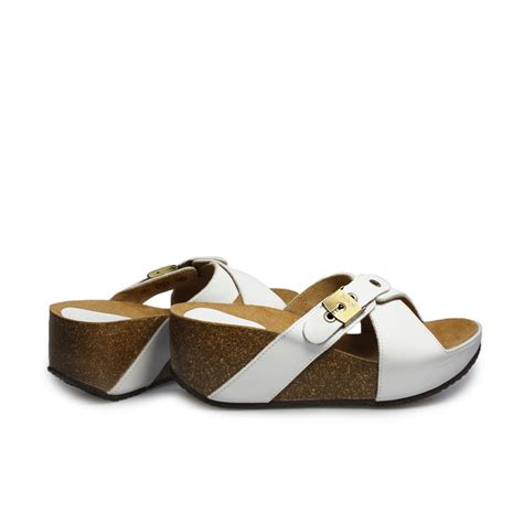 2 buckle sandals scholl elon 1 2 white brown leather womens buckle