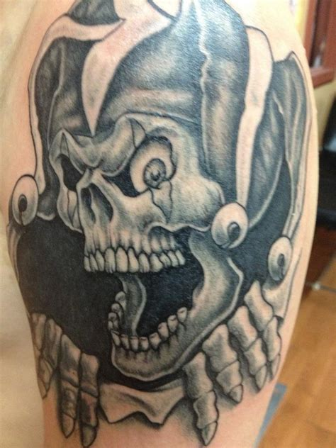 tattoo joker skull yonkers ink tony tatts jester skull tattoo