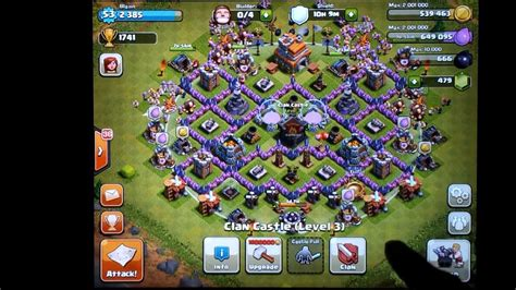 clash of clans defense town hall level 7 clash of clans town hall level 7 farming defense changes