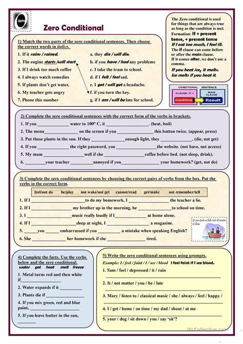 pattern zero conditional all worksheets 187 zero conditional worksheets printable