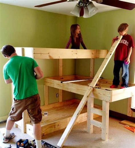 3 Level Bunk Bed Diy Three Level Bunk Bed Diy Cozy Home