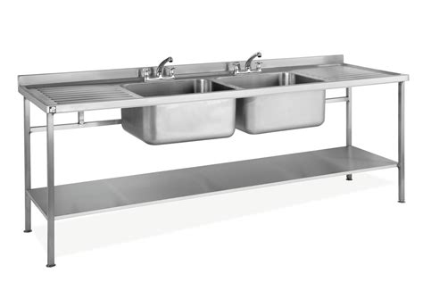 stainless steel kitchen sink double bowls wash basin wall stainless steel self assembly sink double bowl double