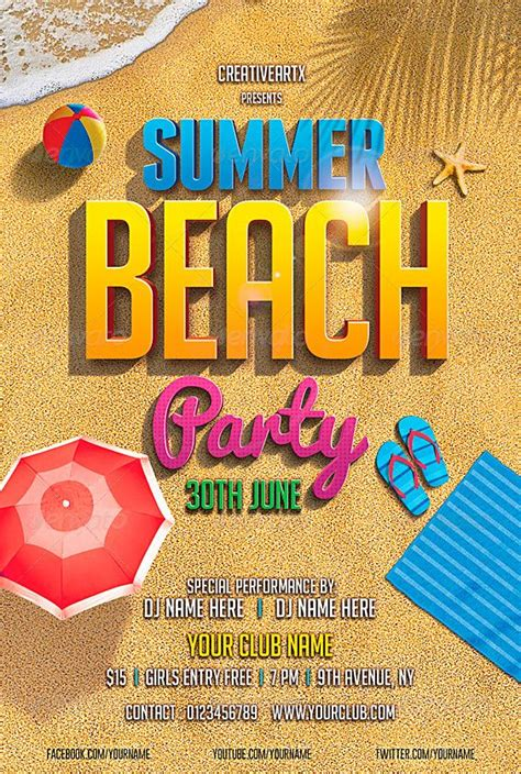 template flyer beach beach party flyer template http www ffflyer com beach