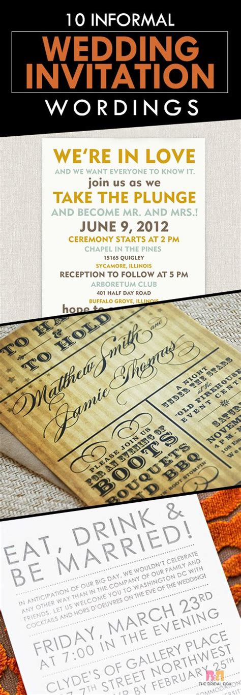 casual wedding invitation wording for s marriage 10 and inspiring informal wedding invitation