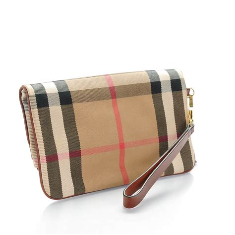 Burberry Wristlet by Burberry House Check Bridle Adeline Foldover Wristlet