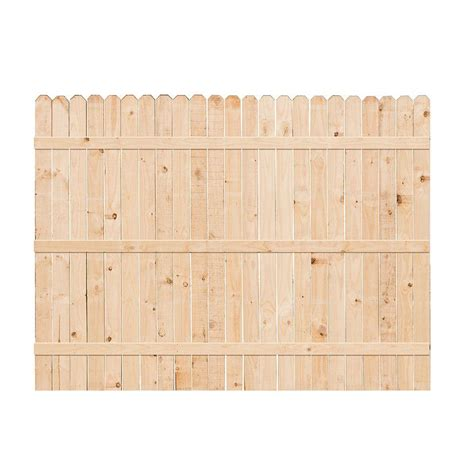 ear fence panels 6 ft h x 8 ft w common ear fence panel 126848 the home depot