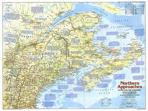 map of maine and canada northern approaches maine to the maritimes map