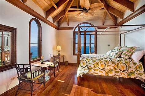 Caribbean Bedroom Decor by The Charming Villa Carlota In The Caribbean