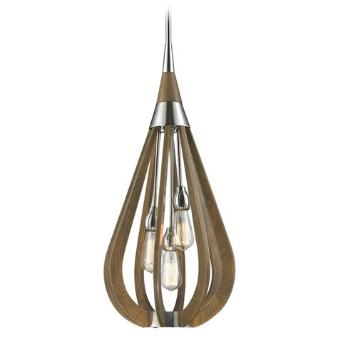 Elk Lighting Janette Polished Nickel Pendant Light 31555 Polished Nickel Pendant Lights