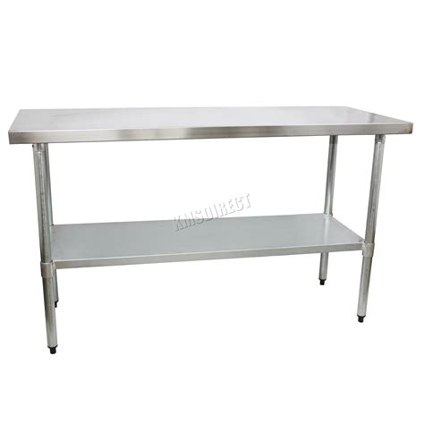 commercial workshop benches foxhunter stainless steel commercial catering table work