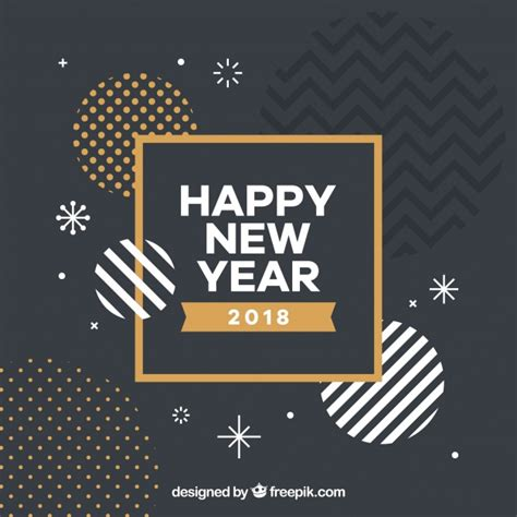 freepik new year abstract new year shapes background vector free